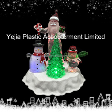 "8.0"" led Acrylic Santa/ tree and deer Decoration"