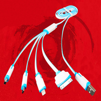 4 in 1 usb cable, for iphone charger cable, for iphone charging cable