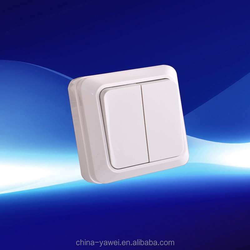 europe 2 gang surface wall switch good quality