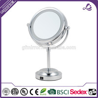 New design magnifying 360 degree rotating led cosmetic mirror double sided salon mirrors