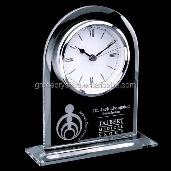 Large size clock inlayed crystal set decorative office clock