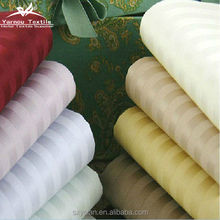 cotton satin strip bedding fabric