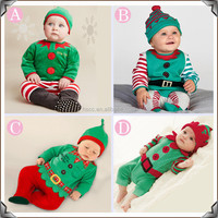 cotton baby christmas style dress baby toddler clothing one-piece wear