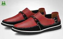 latest design wine red leather shoes men shoes