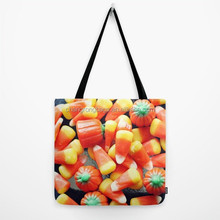 Colorful cotton canvas shopping tote bag with activator spray water printing
