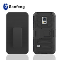 For samsung s5 mini full black smartphone case cover soft rubber silicone;hybrid belt clip phone case for s5 mini