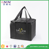 Promotional Wholesale Customized Wine Bottle Non Woven Ice Thermal Lunch Insulated Cooler Bag For