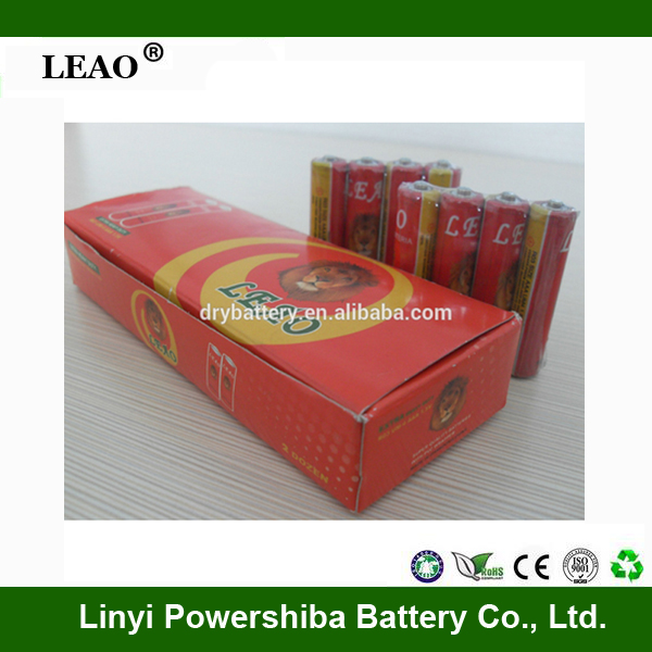 High Quality R6 1.5v carbon zinc aa size um3 batteries