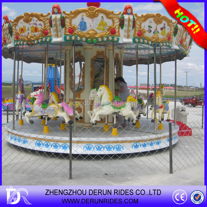 Video Available!!! Amusement park cheap price kids toy 16 people seats carousel horse manufacturer/supplier for sale