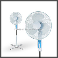 New design powerful new plastic blades stand fan 16 inch