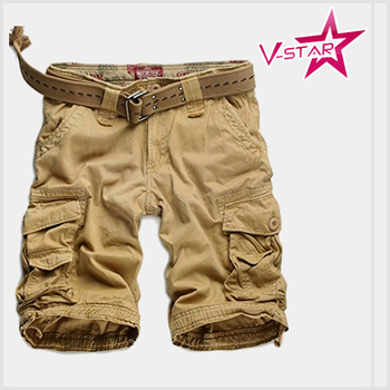 Men's Twill cargo short customed size / color jogger pants wholesale