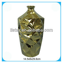 Electroplate ceramic flower vases for home decor