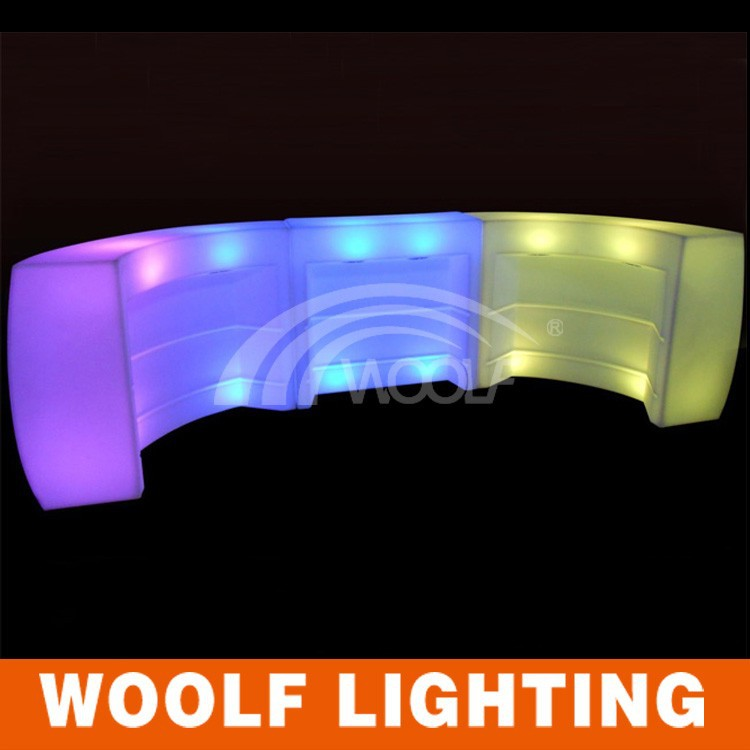 illuminated led restaurant bar counters for sale /restaurant bar counter design