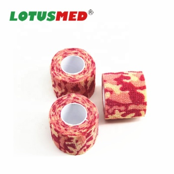 Non-woven Latex Flexible Camouflage Cohesive Bandage