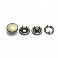Custom Metal Pearl Prong Ring Snap Button For Clothing