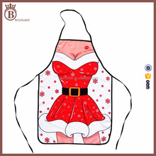 Kitchen Custom Decoration Christmas Holiday Sexy Women Aprons