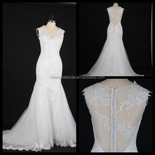 Sexy deep v neckline wedding dress new arrive luxury lace design wedding gowns
