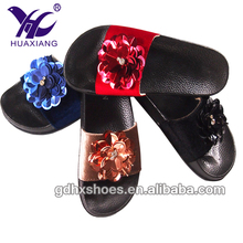 Ladies Comfy Plain Rubber Clear Sliders Flats Shoes Slides Slippers