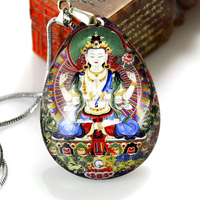 Trendy fashional buddha pendant necklace custom made with any images