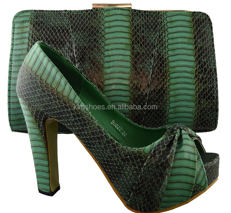 High Quality Bags And Women Shoes High Heel 12 CM Black Green African Shoe And Bag Set For Party Italian Shoe Matching Bags