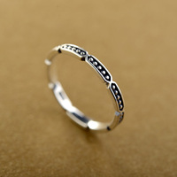 Italina Guangdong factory new model Thai silver nfc thin ring with small bead for little girls