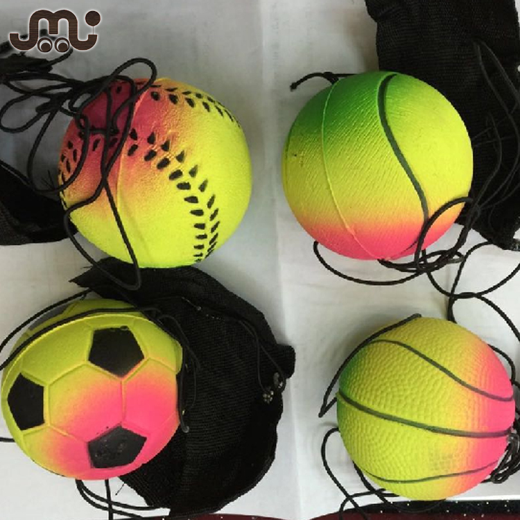 Wholesale mixed colors 60mm toss and catch wrist band ball