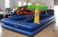 high quality inflatable palm tree pool for children, inflatable pvc swimming pool china KKSP-L005