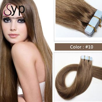 Wholesale 8A Russian Remy Extensions Double Drawn Tape In Hair Extensions Virgin Human Tape Hair  40 Small Pieces Per Set