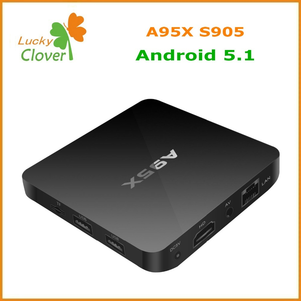 Made in China Smart Tv Box A95X Amlogic S905 Android 5.1 Tv Box Quad Core A95X tv box codi