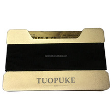Tuopuke Latest Design Metal Wallet with Mini Safe Elastic Money Band to Protect Credit Business Cards Money Coins
