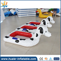 Huale high quality inflatable cartoon floating boat, inflatable puppy boat for pool