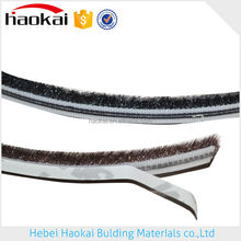 self-adhesive pile weather strip with hot melt glue