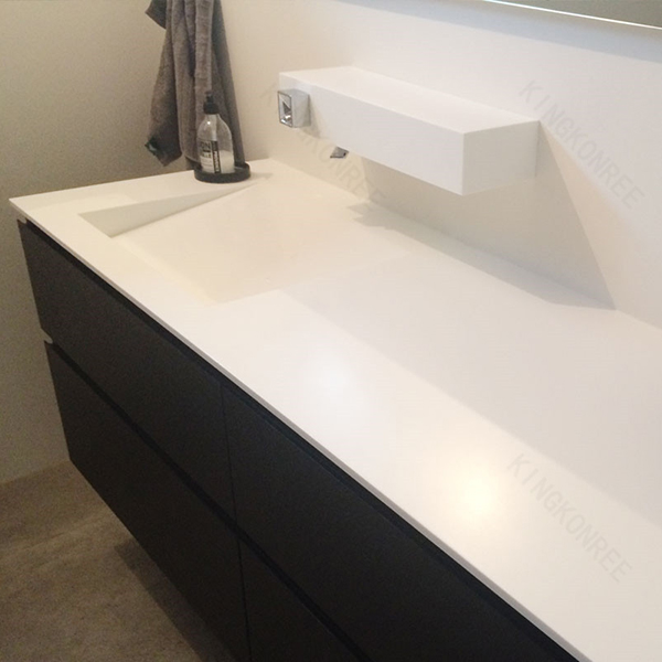 engineering stone countertops,glossy white hotel vanity top,bench top for sale