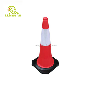 Manufacture 750MM Flexible Orange Used PVC Traffic Cone