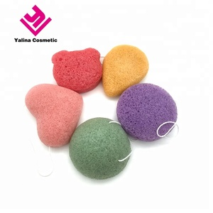 Wholesale Private Label face 100% natural Pure Skin Care Body Organic konjac sponge