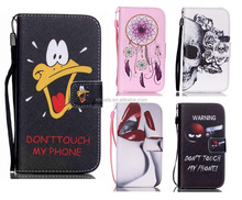 3C Mobile Phone Accessories Flip Magnetic Leather Wallet Case Flower Cartoon Cover Phone Shell For Samsung S3 S4 S5 mini S6/7/8