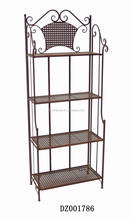 Wrought Iron 4 Tier Flower Shelf For Garden & Home Decoration
