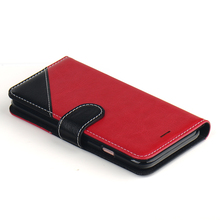 Standable Flip Cover PU Wallet Leather Phone Case for iphone 7