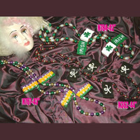 Party Beads Manufacture Flags theme Necklaces Hand Strung Mardi Gras beads