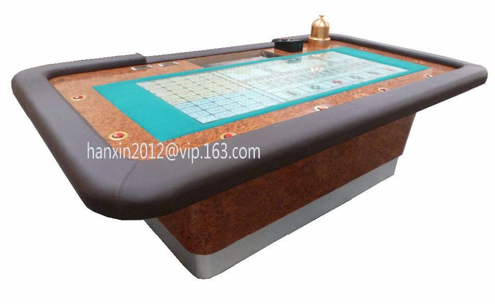 Deluxe Casino Wooden Craps Table