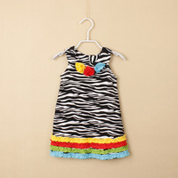 D20908C Girls zebra dress