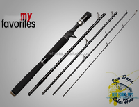 wholesale high quality 5 section travel pack cast rod carbon fishing rod