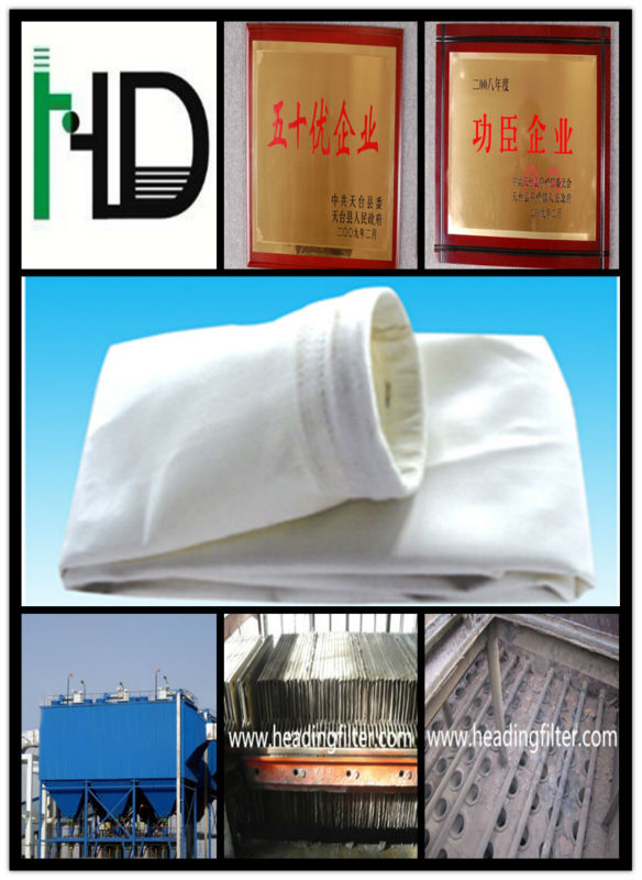 Non woven needle pounche felt Dust filter Bag PPS bag filter