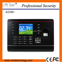 English, Spanish , Arabic language device and software fingerprint time and attendance with card reader 500 dpi finger sensor