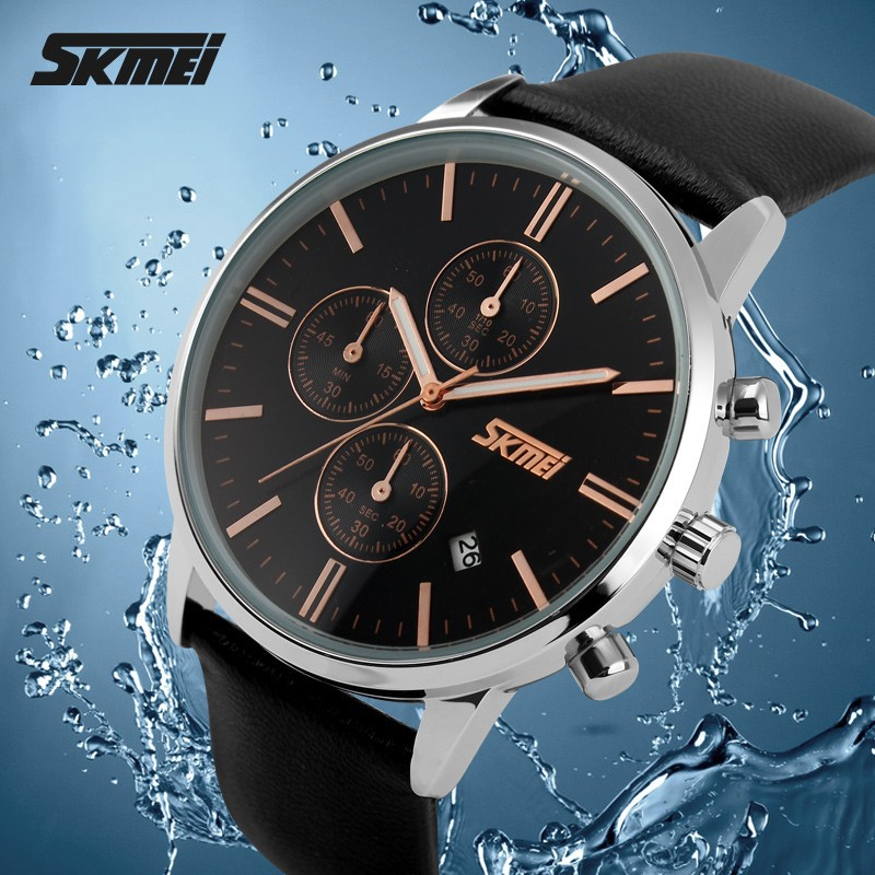 skmei new quartz wrist watch japan movt quartz watch stainless steel bezel #9103