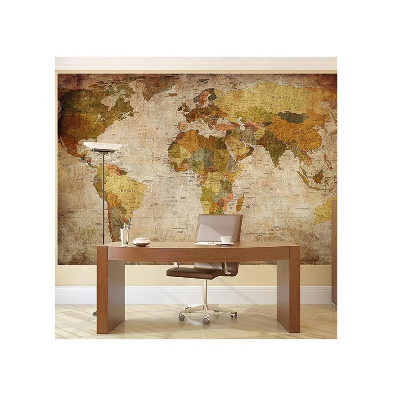 World Map Wallpaper Mural For Living Room Decoration Buy High