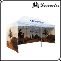 Hexagonal heavy duty 3x6m folding marquee tents with full printing