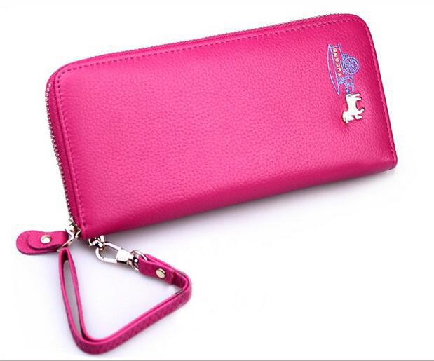 Lady Genuine Leather Wallet with wristlet