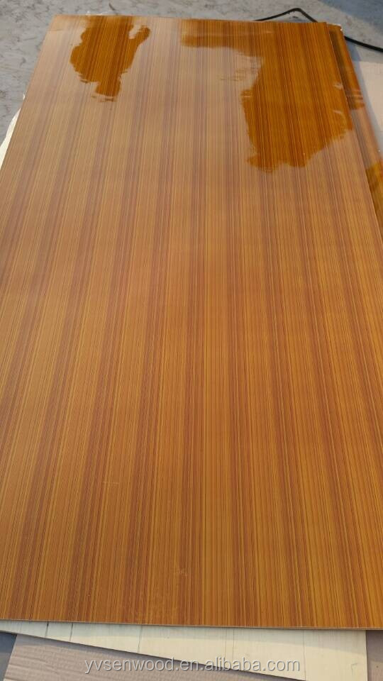 3mm poplar core shining poly coated plywood