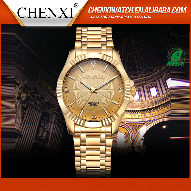 2016 Top Brand Best Fashion Luxury Quartz Gold Plated Wrist Watches Best quatily japan movt watch prices
